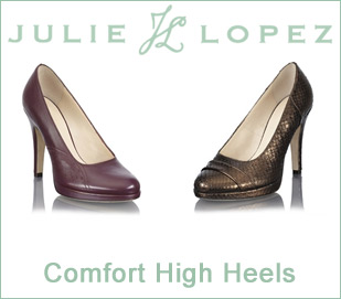 comfort high heels  julie lopez shoes